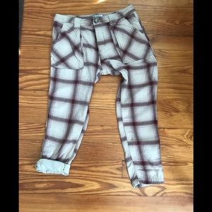 Free people cropped flannel plaids